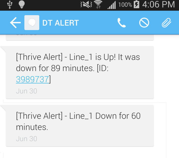 Thrive Text Alerts